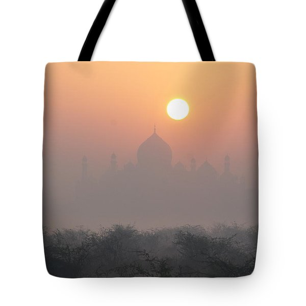 Sunrise Over The Taj Tote Bag