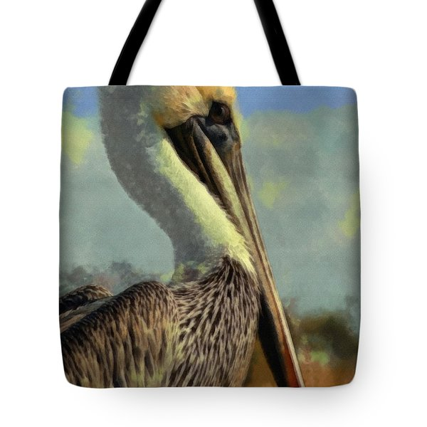Sunrise Pelican Tote Bag by Ernie Echols