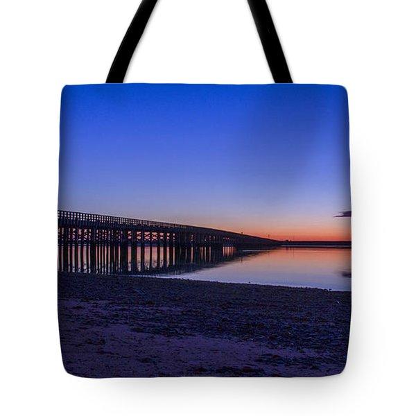 Sunrise Pier Tote Bag