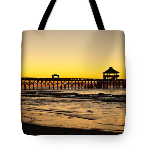 Sunrise Pier Folly Beach Sc Tote Bag