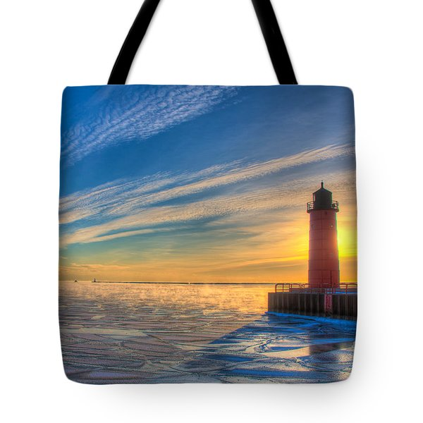 Sunrise Pierhead Tote Bag