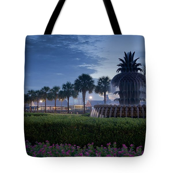 Sunrise Pineapple Fountain Tote Bag