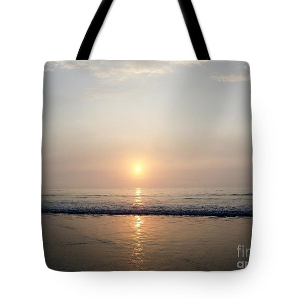 Sunrise Reflection Shines Upon The Atlantic Tote Bag by Eunice Miller