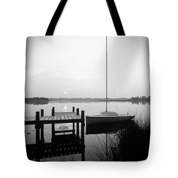 Sunrise Sail Boat Tote Bag by Mike McGlothlen