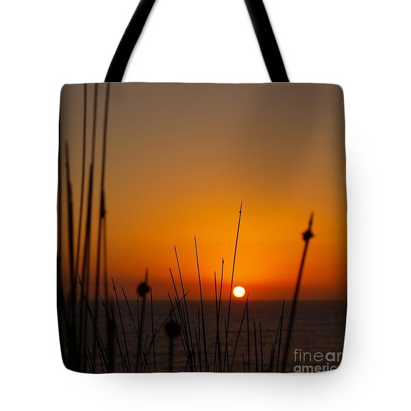 Tote Bag featuring the photograph Sunrise Silhouette by Trena Mara