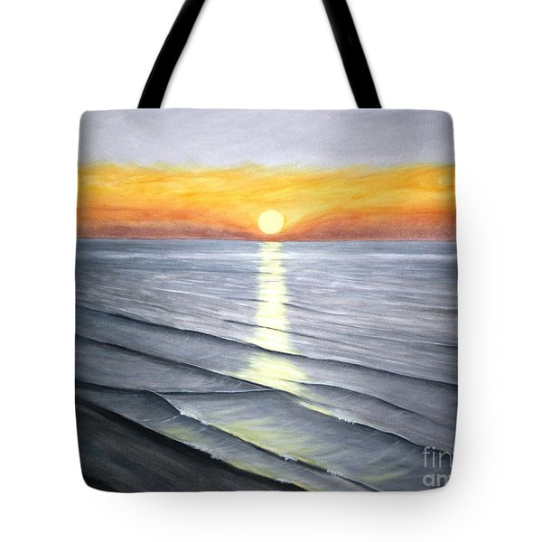 Tote Bag featuring the painting Sunrise by Stacy C Bottoms