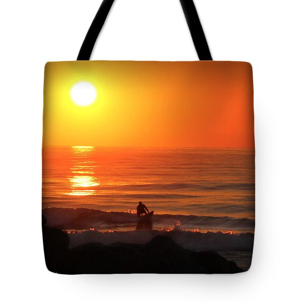 Sunrise Surfer Tote Bag