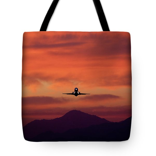 Sunrise Takeoff Tote Bag