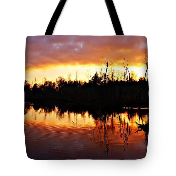 Sunrise Thanksgiving Morning Tote Bag by Joe Faherty