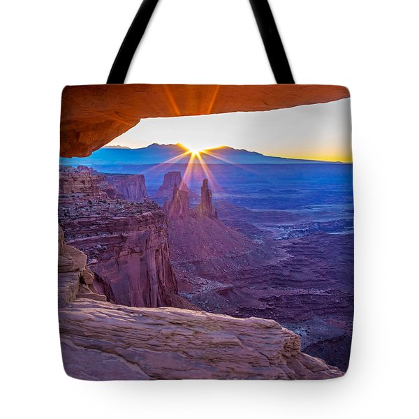 Sunrise Through Mesa Arch Tote Bag