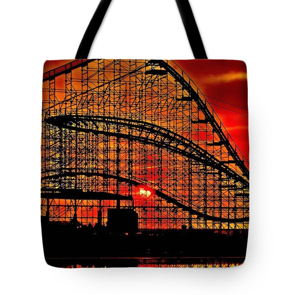 Sunrise Thru The Coaster Tote Bag by Nick Zelinsky