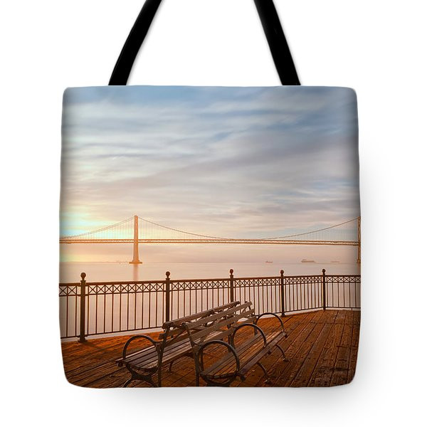 Tote Bag featuring the photograph Sunrise To The Bay by Jonathan Nguyen
