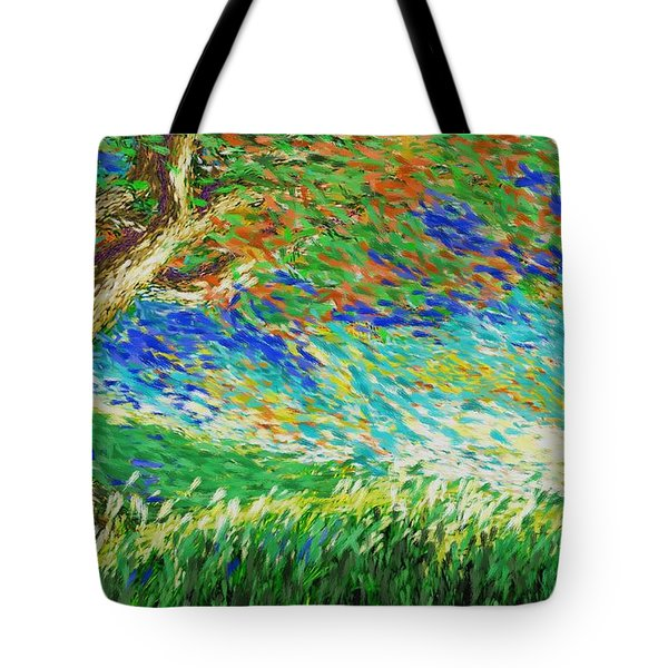 The War Of Wind And Sun Tote Bag