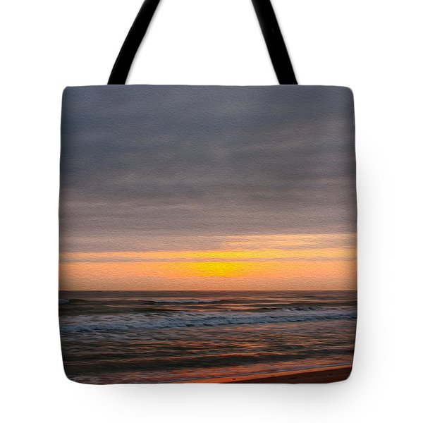Sunrise Under The Clouds Tote Bag by John M Bailey