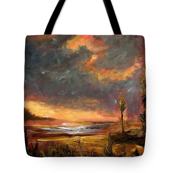 Sunrise With Birds  Tote Bag
