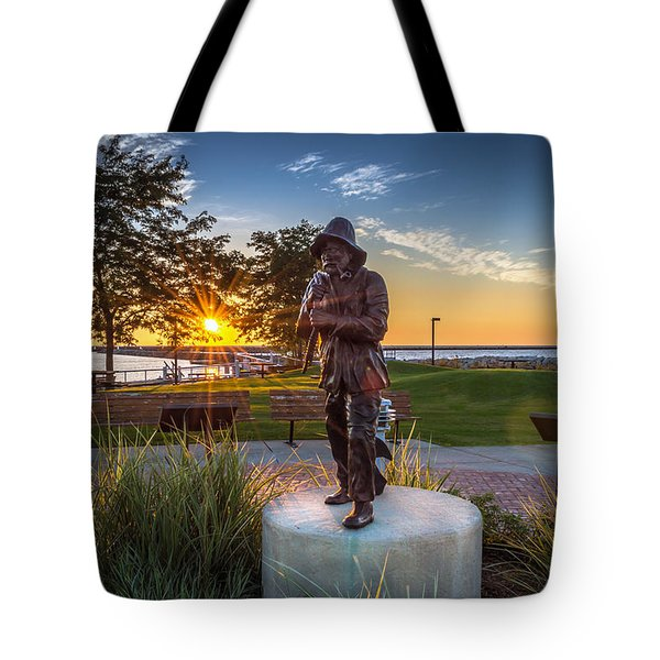 Sunrise With The Fisherman Tote Bag