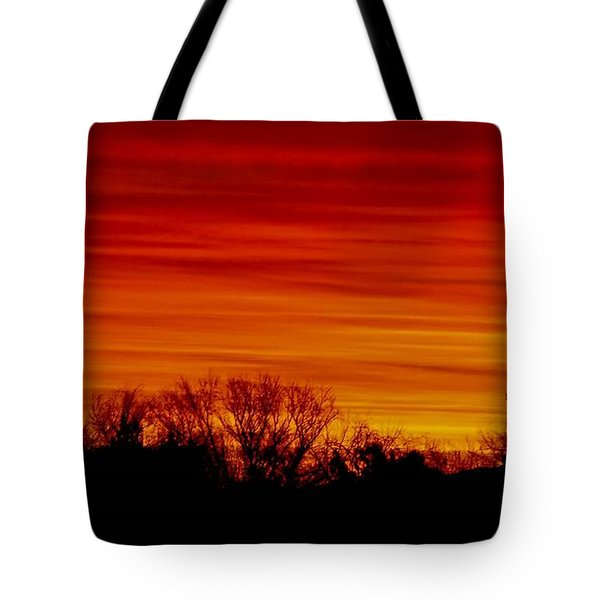 Tote Bag featuring the photograph Sunrise Y-town by Angela J Wright