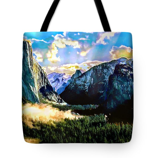 Sunrise Yosemite Valley Nationalpark Tote Bag