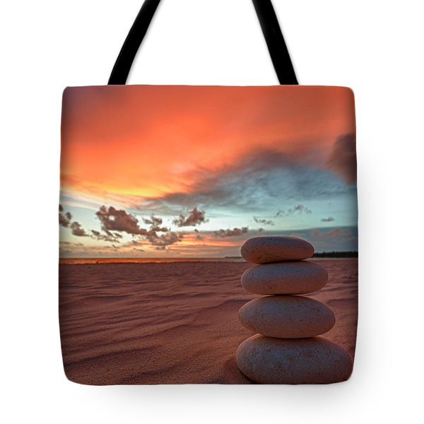 Tote Bag featuring the photograph Sunrise Zen by Sebastian Musial