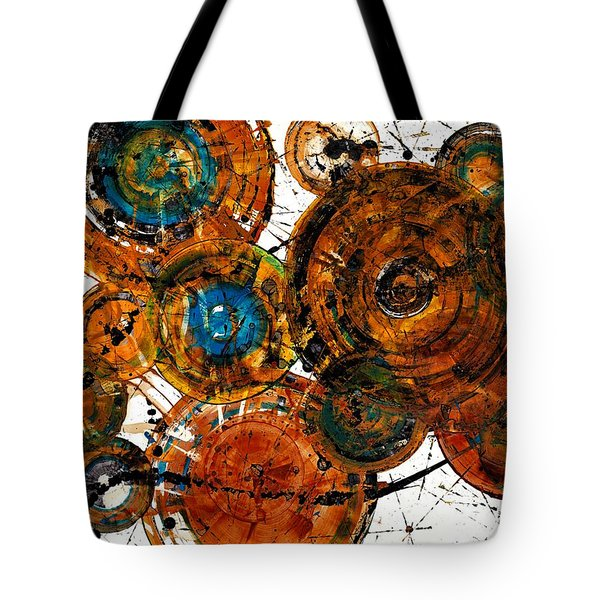 Tote Bag featuring the painting Sunset - 1274.121412 by Kris Haas