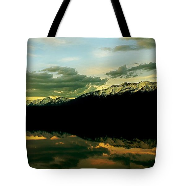Sunset 1 Rainy Lake Tote Bag