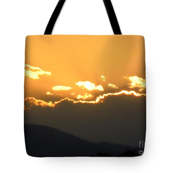Tote Bag featuring the photograph Sunset 3 by Ze  Di