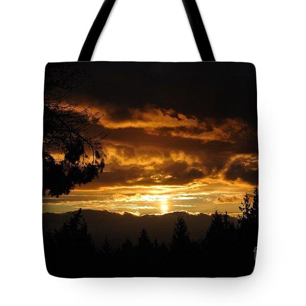 Sunset 5 - Pender Island Tote Bag