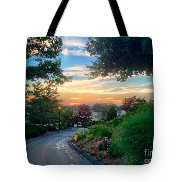 Sunset At Patti's House Tote Bag