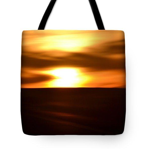 Tote Bag featuring the photograph Sunset Abstract II by Nadalyn Larsen