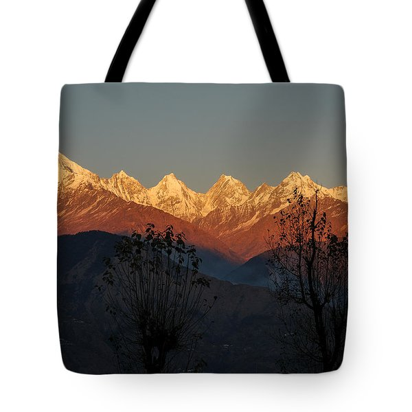 Sunset And Moonrise. The Rendezvous. Tote Bag
