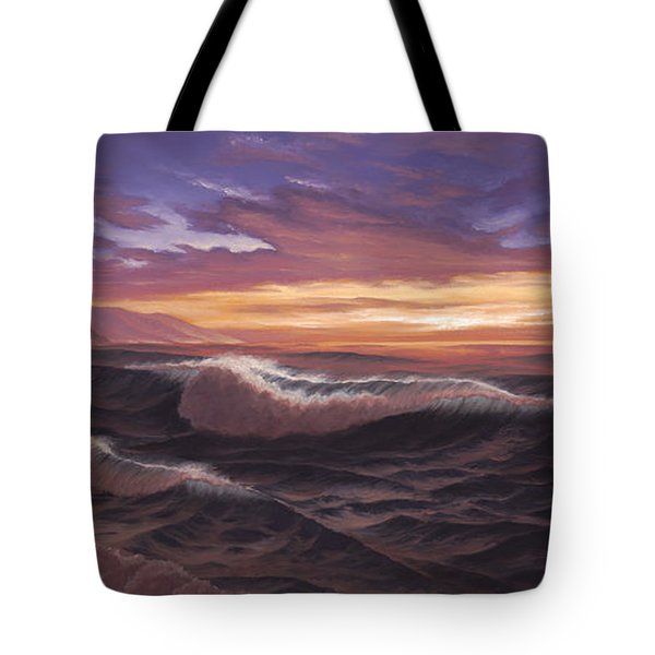 Sunset At Big Sur Tote Bag
