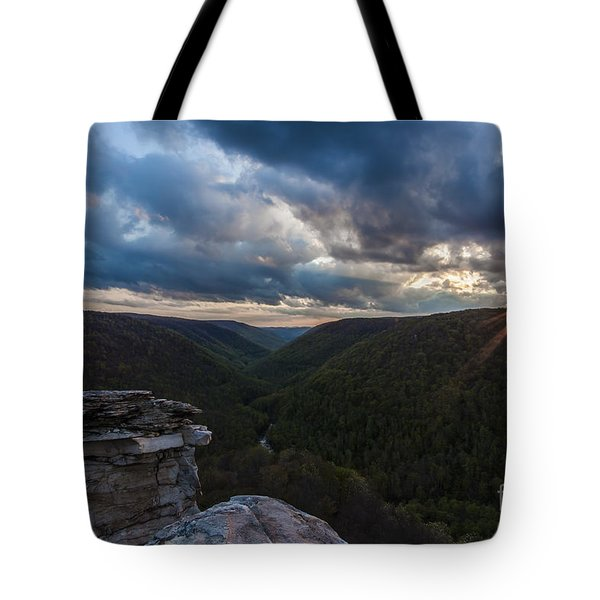 Sunset At Blackwater Falls State Park Tote Bag by Amber Kresge