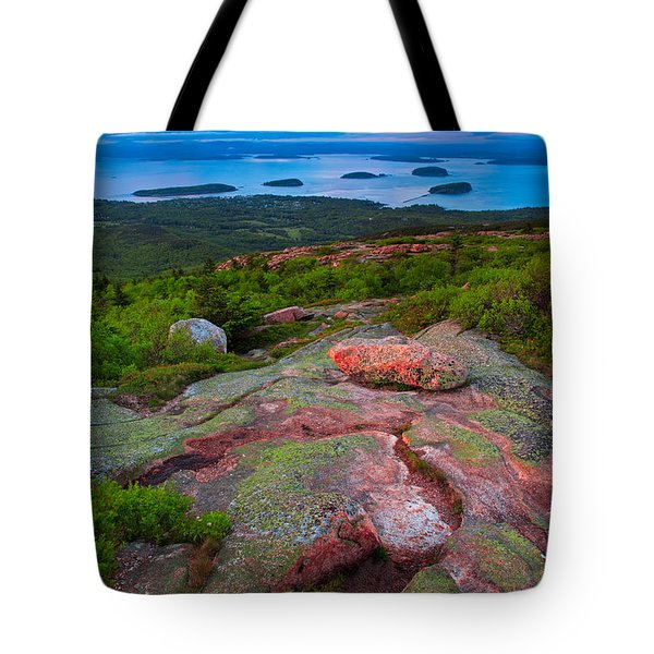 Sunset At Cadillac Mountain Tote Bag
