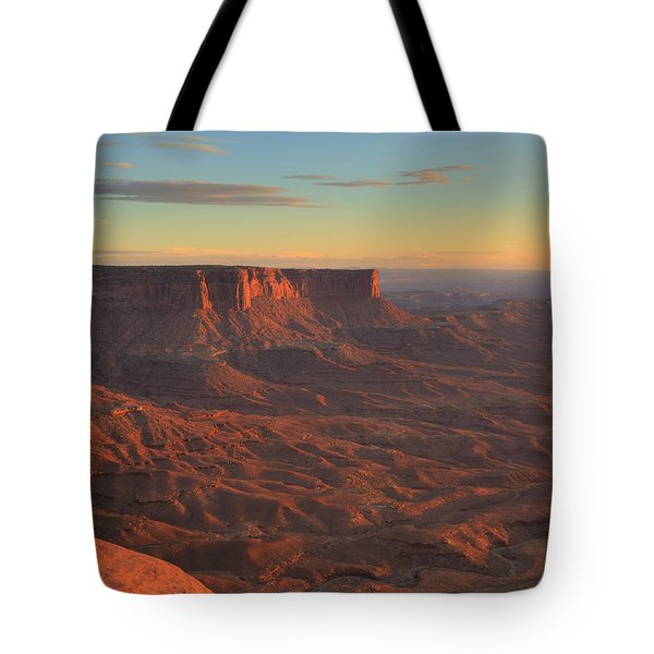Tote Bag featuring the photograph Sunset At Canyonlands by Alan Vance Ley