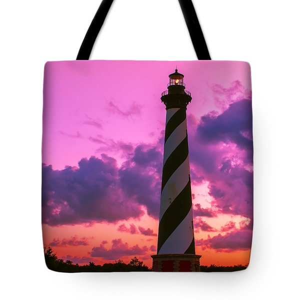 Sunset At Cape Hatteras Vertical  Tote Bag by Nick Zelinsky