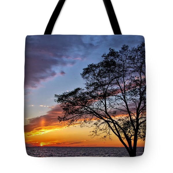 Sunset At Chesapeake Beach Tote Bag