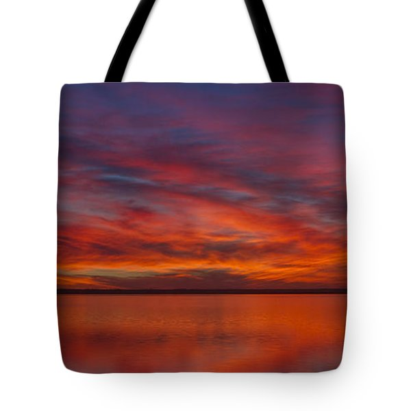 Sunset At Cheyenne Bottoms 1 Tote Bag