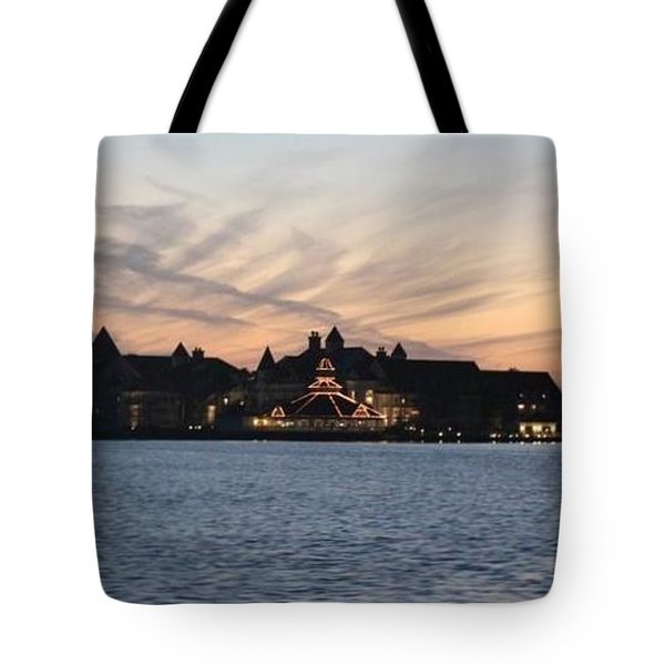 Sunset At Disney Tote Bag