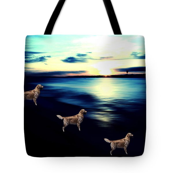 Tote Bag featuring the photograph Sunset At Edmonds Washington Off Leash Dog Park by Eddie Eastwood