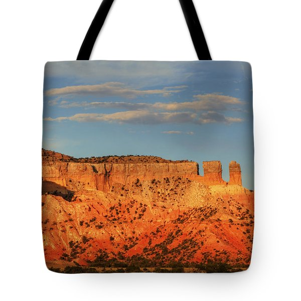 Tote Bag featuring the photograph Sunset At Ghost Ranch by Alan Vance Ley