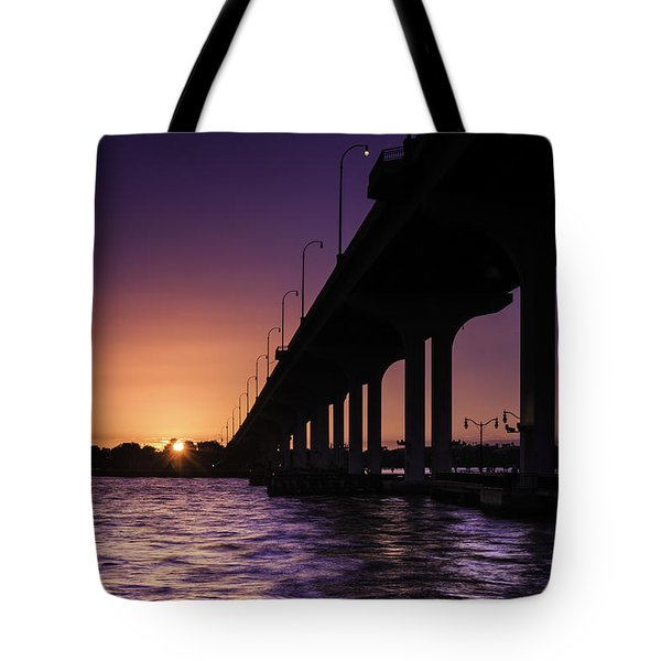 Sunset At Jensen Beach Tote Bag