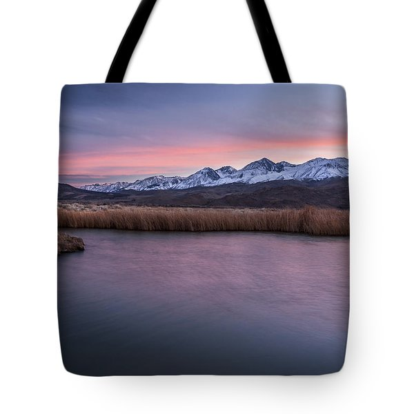 Sunset At Klondike Lake Tote Bag by Cat Connor