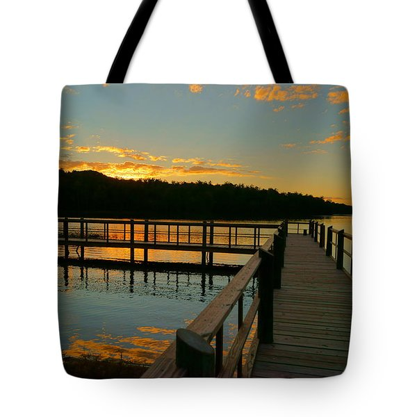 Sunset At Lake Mcintosh Tote Bag