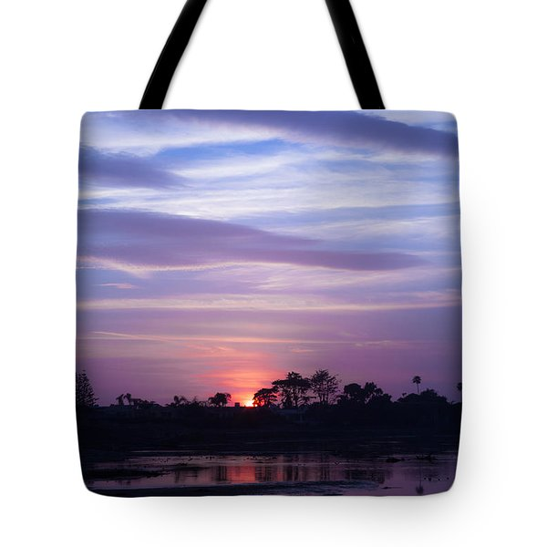 Sunset At Malibu Beach Lagoon Estuary Fine Art Photograph Print Tote Bag by Jerry Cowart