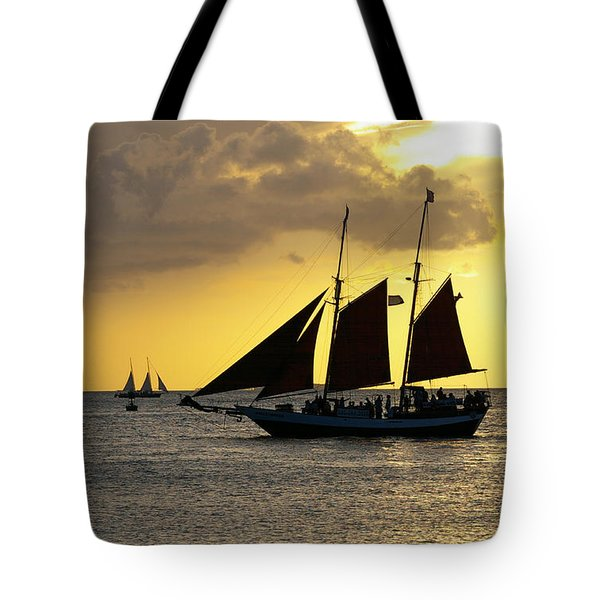 Sunset At Mallory Square II Tote Bag