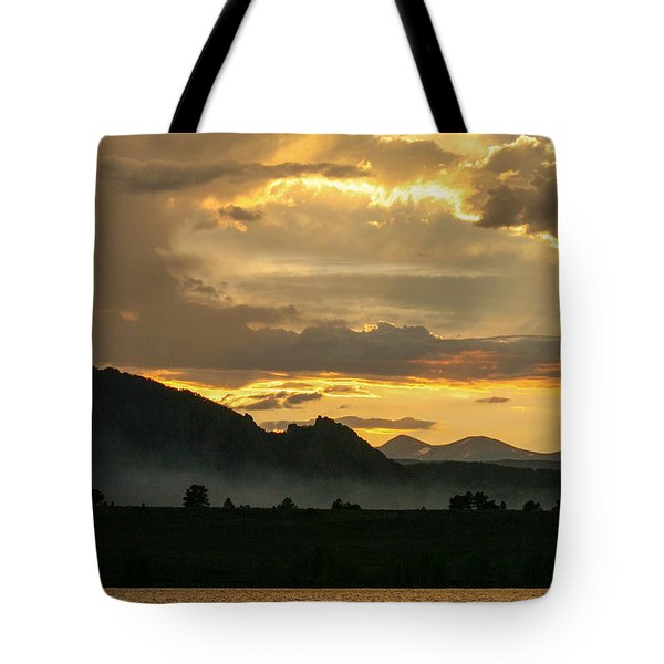 Smokey Sunset At Marshall Lake Tote Bag
