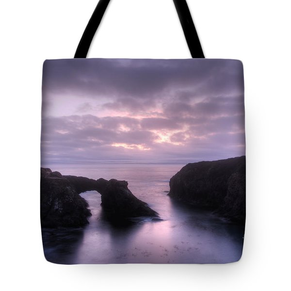 Sunset At Mendocino Tote Bag by Bob Christopher