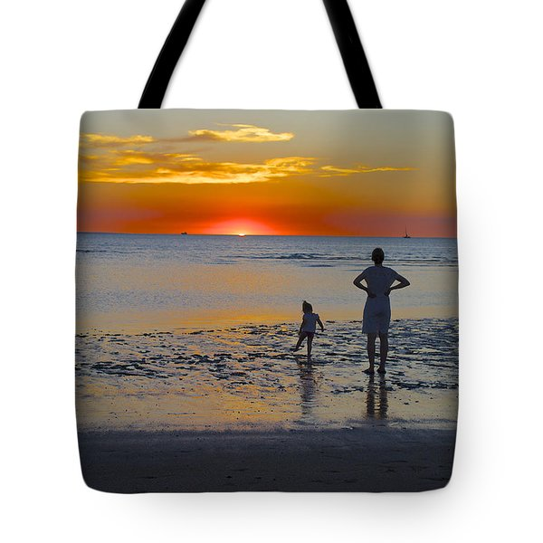 Sunset At Mindil Beach Tote Bag by Venetia Featherstone-Witty