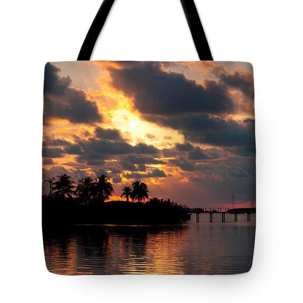 Sunset At Mitchells Keys Villas Tote Bag by Michelle Wiarda