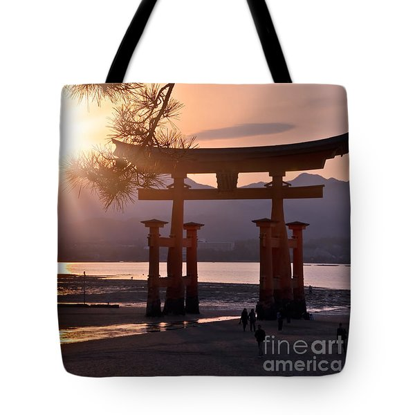 Sunset At Miyajima Tote Bag
